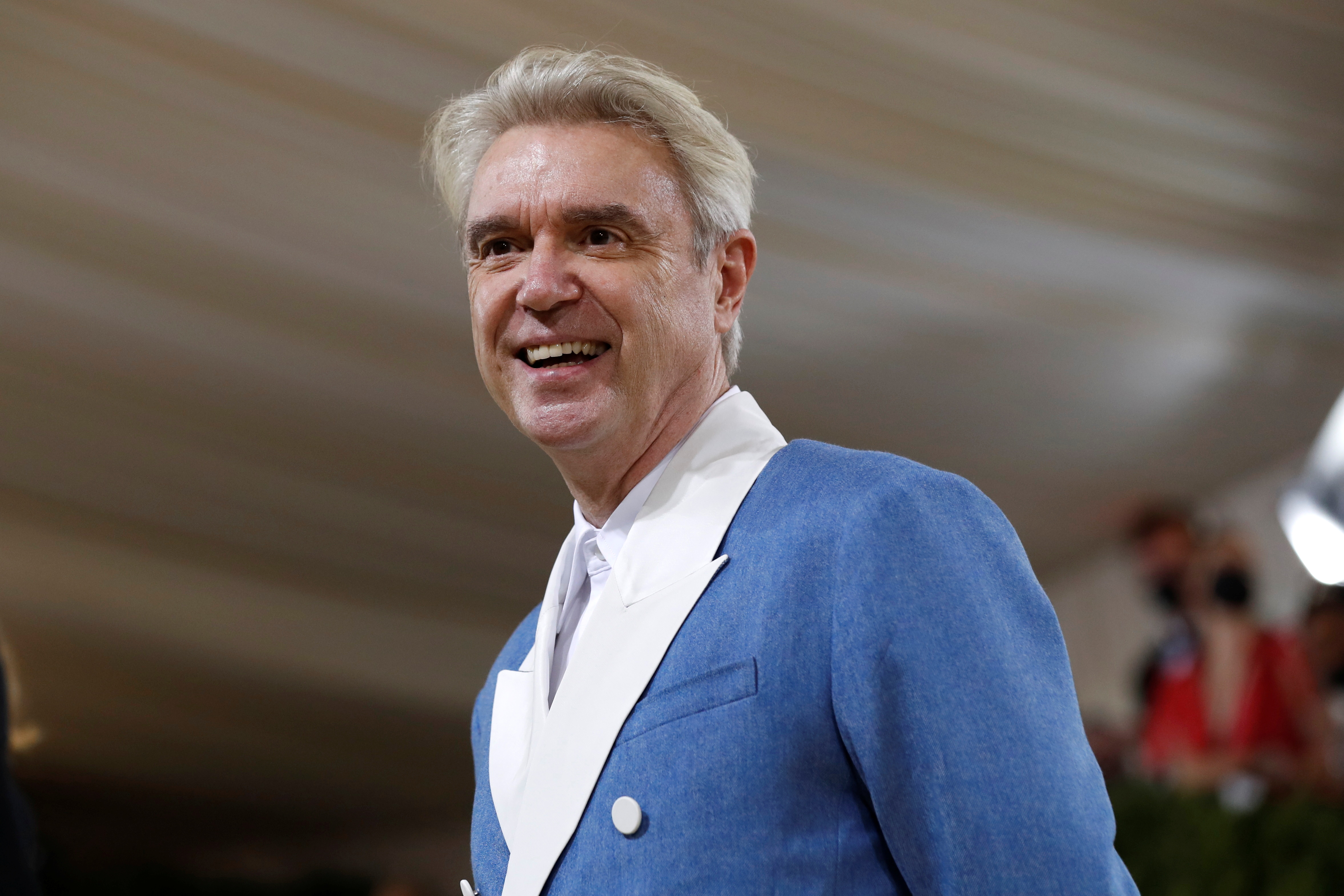 Metropolitan Museum of Art Costume Institute Gala - Met Gala - In America: A Lexicon of Fashion - Arrivals - New York City, U.S. - September 13, 2021. Musician David Byrne. REUTERS/Mario Anzuoni